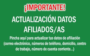 Actualización datos Afiliación