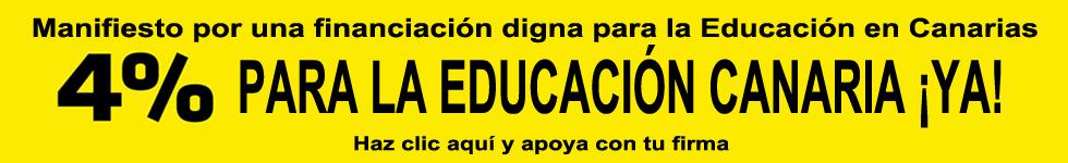 MANIFIESTO 4% PARA EDUCACIÓN YA