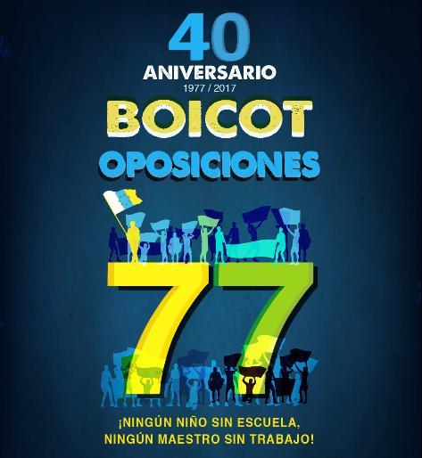 Noticias Boicot Oposiciones 1977