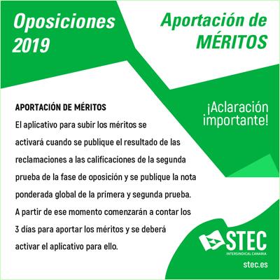 Méritos Oposiciones 2019