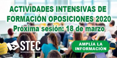 Formación intensiva Oposiciones 2020 - marzo
