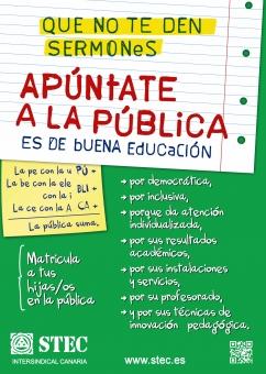 ¡Apúntate a la Pública! Campaña de revalorización de la Educación Pública