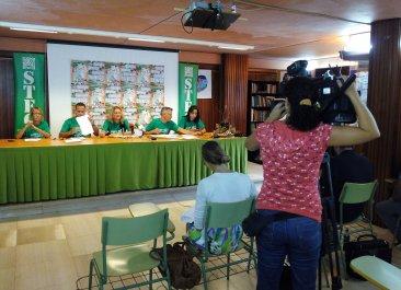 Rueda de Prensa del STEC-IC para valorar el inicio del curso 2014-2015