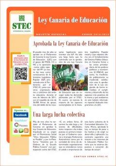 Nuevo Boletín Informativo Ley Canaria de Educación