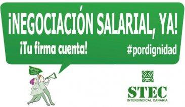 Firma por la mejora salarial del profesorado de Canarias