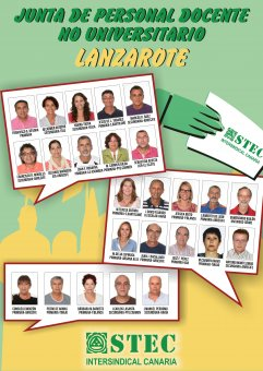 Candidatos/as de la isla de Lanzarote