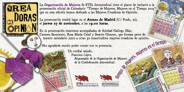 Presentaci�n p�blica del Calendario de Mujer 2015 del STEC-IC