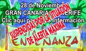 Se suspende la Fiesta de la Enseñanza en Gran Canaria y Tenerife por la situación de Alerta Máxima