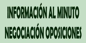 Informaci�n al minuto de la Mesa Sectorial de Negociaci�n de 29 de enero sobre oposiciones