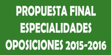 Acuerdo definitivo oposiciones 2015 y 2016