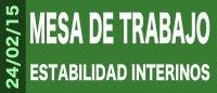 Actualizaci�n Informaci�n Mesa de Trabajo sobre la estabilidad del personal interino (24, 25 y 26 de febrero)