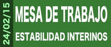 Actualización Información Mesa de Trabajo sobre la estabilidad del personal interino (24, 25 y 26 de febrero)