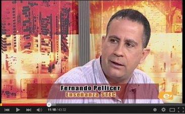 Debate en TV sobre la Educaci�n en Canarias con participaci�n de Fernando Pellicer