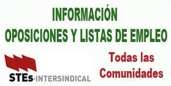 Información sobre Oposiciones y Listas de Empleo en todo el estado