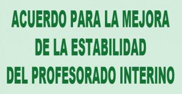 Acuerdo para la mejora de la estabilidad del profesorado interino