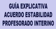 Gu�a explicativa Acuerdo estabilidad profesorado interino