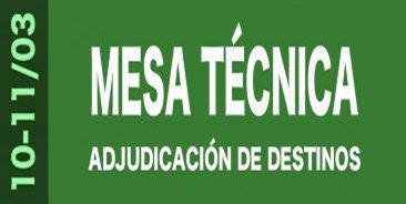 Informaci�n Mesas T�cnicas Adjudicaci�n de Destinos 2015-2016