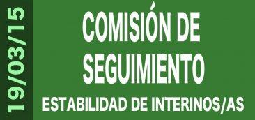 Comisión de Seguimiento del Acuerdo para la mejora de la estabilidad del profesorado interino