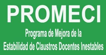 PROMECI: Programa de Mejora de la Estabilidad de Claustros Docentes Inestables