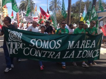 1º de mayo contra la LOMCE y los recortes
