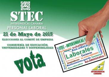 El STEC-IC gana ampliamente las elecciones del personal laboral de Educación