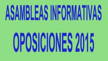 Asambleas Informativas Oposiciones 2015