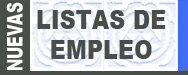 Listas de empleo 2015. Listas provisionales de admitidos y excluidos
