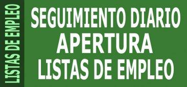 Seguimiento diario ampliaci�n Listas de Empleo docentes 2015