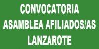 Convocatoria de Asamblea afiliados/as Lanzarote