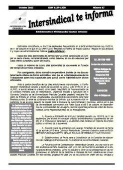 Boletín Informativo del STEC-IC Universidad