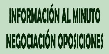Informaci�n al minuto de las Mesas Sectorial de 23 de diciembre sobre oposiciones