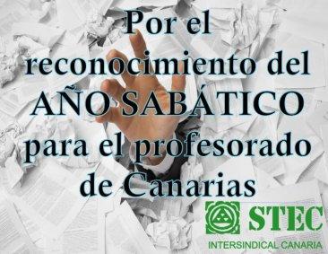 Firma por el reconocimiento del Año Sabático para el profesorado de Canarias