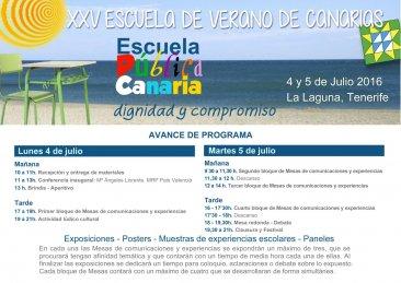 XXV Escuela de Verano de Canarias
