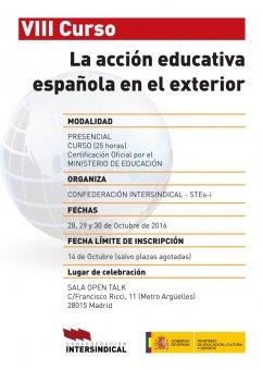Stec ic viii curso la acci n educativa espa ola en el for La accion educativa en el exterior