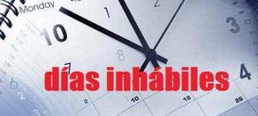 Los sábados ya se consideran días inhábiles a efectos administrativos