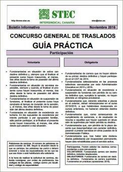 Guía práctica del STEC-IC para el Concurso de Traslados 2016-2017