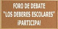 Foro de debate sobre los deberes escolares ¡Participa!