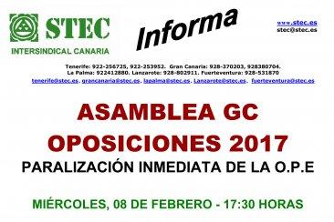 Asamblea Oposiciones 2017 Gran Canaria
