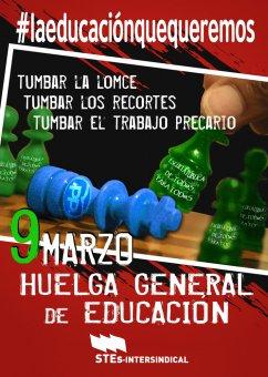 El STEC-IC secunda y convoca la Huelga General Educativa del 9 de marzo