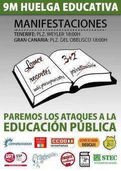 Aclaraciones del STEC-IC respecto a la Huelga General en Educación del jueves 9 de marzo