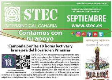 Boletín Informativo STEC-IC Septiembre 2017
