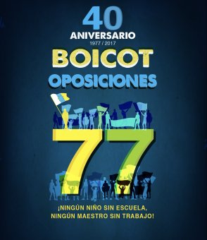Colabora con el 40º Aniversario del Boicot a las Oposiciones de 1977