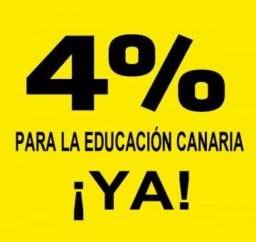 Suscribe el Manifiesto por una financiación digna para la Educación en Canarias