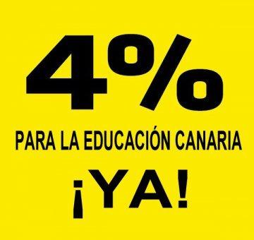 Los docentes no universitario de Las Palmas se suman al 4% para Educación en 2018