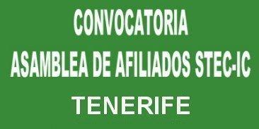 Convocatoria Asamblea de afiliados/as en Tenerife