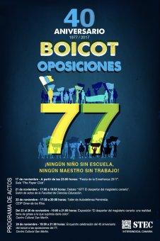 Programa de actos 40 Aniversario del Boicot a las oposiciones de 1977