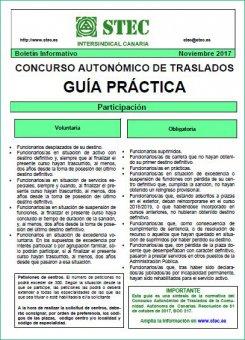 Guía práctica del Concurso de Traslados Autonómico