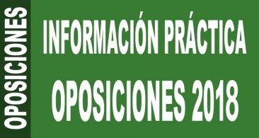Información práctica Oposiciones docentes 2018