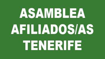 Convocatoria Asamblea de afiliados/as en Tenerife martes 20 de febrero