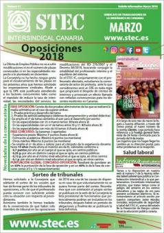 Boletín Informativo STEC-IC marzo 2018